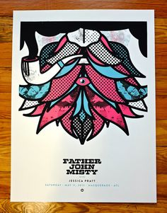 Father John Misty Hand Printed Concert Poster
