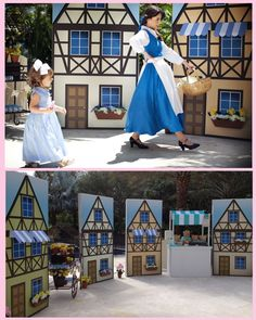 Beauty and the Beast Theme: Set up a quaint village scene.