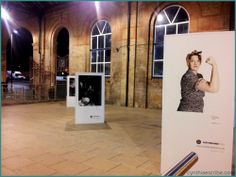 Dave's Leicester Comedy Festival photography exhibition at the railway station.
