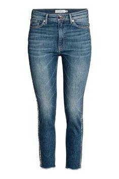 Slim High Ankle Jeans - Azul denim/Plateado - MUJER | H&M ES 1