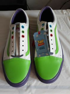 8502273af26b07 Details about Vans Disney Pixar Old Skool Toy Story Buzz Light Year Size  8.5 men 10 WOMEN
