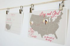 Map Travel Desination Photo Save the Date by SimpleSimonDesign, $85.00