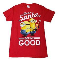 Christmas Despicable Me Minion Dear Santa, Define Good Graphic T-Shirt