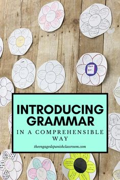 Ideas, strategies and resources for teaching grammar in a comprehensible and effective way Teaching French, Teaching Spanish, Spanish Classroom, Spanish Activities, Vocabulary Activities, French Lessons, Spanish Lessons, Study Spanish, Spanish 1