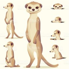 Choose from 60 top Meerkat stock illustrations from iStock. Find high-quality royalty-free vector images that you won't find anywhere else. Easy Animal Drawings, Cartoon Drawings, Easy Drawings, Free Vector Graphics, Free Vector Art, Clipart, Animal Body Parts, African Animals, Drawing For Kids