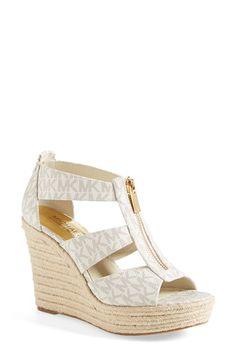 MICHAEL Michael Kors 'Damita' Wedge Sandal (Women) available at #Nordstrom http://2015cheapest.betrunken.org/