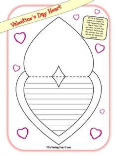 Valentine's Day Heart!!! Write a message, poem, or riddle... then color, cut and give to someone special! <3