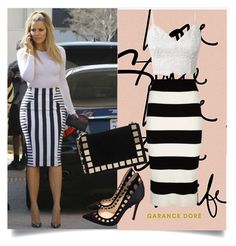 """Black and white"" by betty-boop23 ❤ liked on Polyvore featuring Milly, Tomasini and Gianvito Rossi"