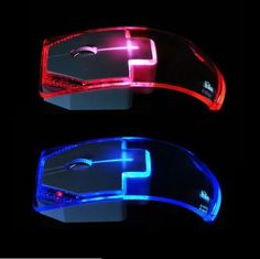 2.4G Wireless Mouse Silent Gamer Transparent  LED  1000DPI Glow in the Dark  #UnbrandedGeneric