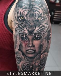 Tiger-tatoo-design-on-shoulder