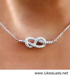 Infinity Knot Diamond Necklace WANT