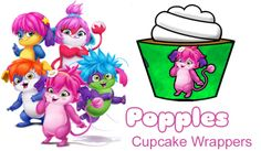 Cupcake Wrappers - Free Fun Party Popples Printables and Activities | SKGaleana