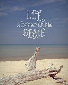 Life is better at the beach  Whimsical Beach by WildTravels, $15.00