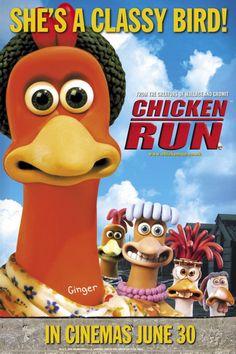 Chicken Run Movie, Chicken Runs, Peter Lord, Animated Movie Posters, Shark Tale, Scrapbook Images, Clean Chicken, Chicken Garden, Baby Chicks