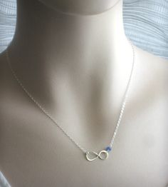 Infinity Birthstone Necklace | Jewelry Necklaces | Something Blue | Scoutmob Shoppe | Product Detail