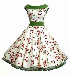 50s green cherry dress by beatriz