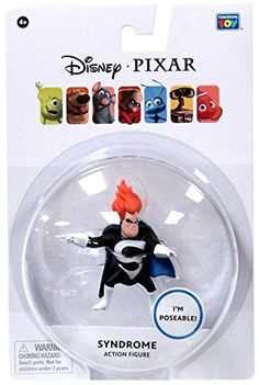 Disney / Pixar The Incredibles Exclusive Inch Action Figure Syndrome: Measures about Disney Incredibles, Disney Pixar, Special Deals, Action Figures, Amazon, Toys, Activity Toys, Riding Habit, Games