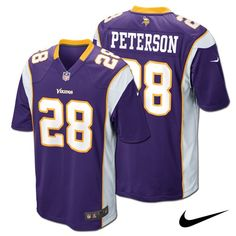 Adrian Peterson Minnesota Vikings Adult NFL Nike Game Jersey. Click to order! - $99.99