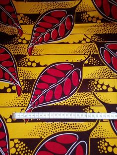 Wax (by 50 cm) fabric - red leaves on yellow background African Patterns, Red Leaves, Yellow Background, African Fabric, Art Forms, Fabric Design, Etsy, Prints, Inspiration