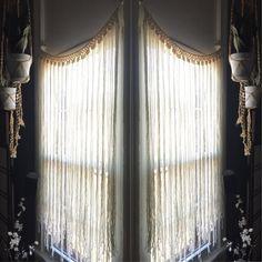 Macrame Curtain by ZimZoo on Etsy