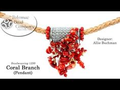 "In this video tutorial from Potomac Bead Company, Allie teaches you how to make her ""Coral Branch Pendant"" design. Beading Patterns Free, Jewelry Patterns, Bead Patterns, Jewelry Making Tutorials, Video Tutorials, Diy Videos, Pendant Design, Beading Supplies, Bead Weaving"