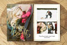 Christmas Card Template 014. Creative Card Templates. $8.00