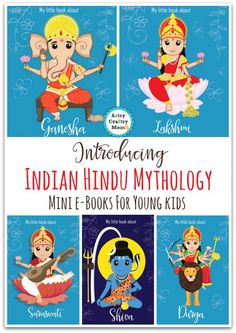 Indian Hindu Mythology for young kids - free eBooks that introduce these deities to young Children in a simplified manner - FAQ, Coloring pages & stories Shiva, Yoga For Kids, Art For Kids, India For Kids, Mini E, Stage Yoga, Mythology Books, India Crafts, World Thinking Day