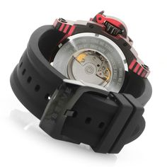 Invicta Reserve Men's 53mm Carbon Meteorite Limited Edition Swiss Made Automatic Strap Watch caseback