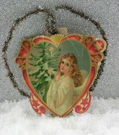 Antique German Embossed Tinsel Die Cut Scrap Victorian Christmas Ornament