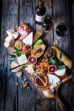 Building a spring cheese board