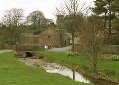 Downham, 3 miles north-east of Clitheroe-the stone bridge across the village stream.