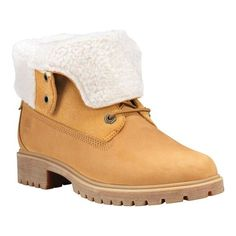 d66a13618 Women's Timberland Jayne Teddy Fleece Fold Down Waterproof Boot - Wheat  Nubuck Boots