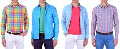 Summer is just behind the corner and once again new fashion trends for men bring bright and vivid colors to men's wardrobes... http://www.kamiceria.com/blog/2013/04/new-fashion-trends-for-men-bright-colors/