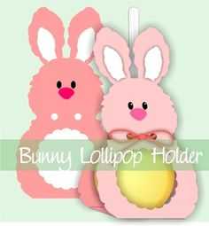 Bunny Lollipop Holder. MyScrapChick
