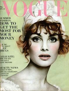 Jean Shrimpton, photo by Richard Avedon, Vogue US, 1960s*