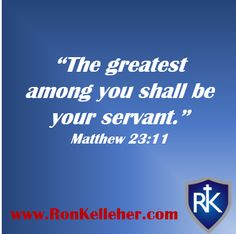 Great leaders are servants first.