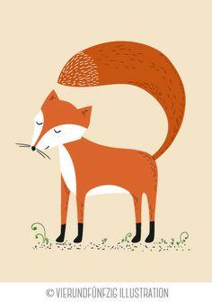 Tiere des Waldes: der Fuchs