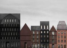 + DETTLI House Dom Roman area, Frankfurt am Main. Germany 2012 - 2017 Exhibition at the Architektur Galerie, Berlin Presentation Board Design, Architecture Presentation Board, Architecture Drawings, Interior Architecture, Architectural Section, Poster Layout, Photoshop, Planer, Skyscraper