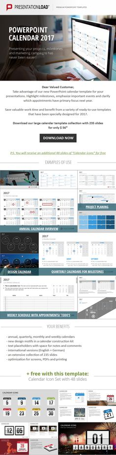 Present challenges, steps and achievements of interdepartmental - powerpoint calendar template