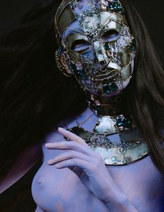 Mask @yanamarkova Маска Яна Маркова Headdress, Headpiece, Markova, Masks, Halloween Face Makeup, Art, Art Background, Fascinators, Kunst