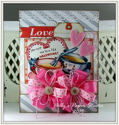 You Suit me to a Tea Valentine Greeting Card by PollysPaper