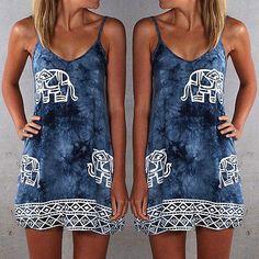 >> Click to Buy << New Sexy Women Sexy Sleeveless Evening Party Summer Beach Short Mini Dress #Affiliate