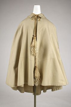 Cape ca 1860, American, wool, silk  Met Museum collection