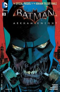 """Batman: Arkham Knight As the Arkham Knight sends a""""message"""" to a couple of ex-Joker thugs, Bruce Wayne makes his first public appearance after the Arkham City incident, rallying the citizens of Gotham behind his mission to rebuild the city! Batman Superman Comic, Batman Arkham City, Batman Arkham Knight, Batman And Superman, Batman Comics, Batman Robin, Gotham City, Dc Comics, Comic Book Characters"""