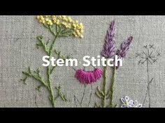 Japanese Embroidery Flowers How to embroidery a stem stitch, perfect for curved lines and, of course, stems! Brazilian Embroidery Stitches, Learn Embroidery, Silk Ribbon Embroidery, Crewel Embroidery, Vintage Embroidery, Flower Embroidery, Embroidery Thread, Embroidery Designs, Embroidery Patterns