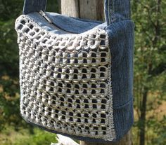 Borsa Denim Tappi Lattine Tracolla Jeans Linguette Soda Pull Bag Tab Bolsa Bolso | eBay