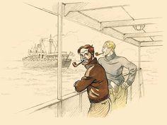Blake and Mortimer on cruising