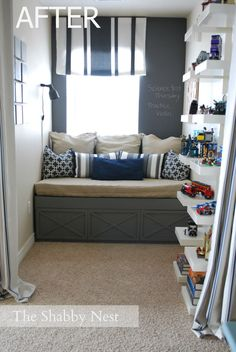 How to create a fun & stylish nook {a boys lofty nook} via @Wendy Hyde