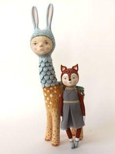 "Miss Fox Art doll ""Ceviche"""