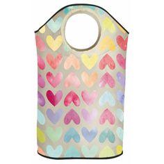 Koš na prádlo Rainbow Hearts od Butter Kings | Bonami
